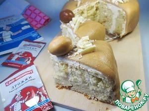 Рецепт Пасхальный пирог с шоколадным ирисом