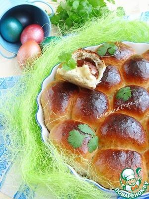 Рецепт Булочки с вялеными томатами и сыром