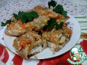 Рецепт Пикантные конвертики с рыбой