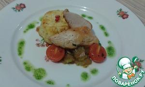 Рецепт Куриная грудка с гратеном из цветной капусты