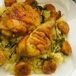 Курица с рисом и бананами