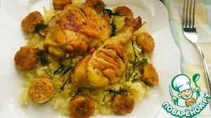 Рецепт Курица с рисом и бананами