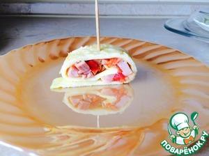 Рецепт Рулетик на завтрак из яиц