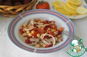 Рецепт Салат из нута и болгарского перца