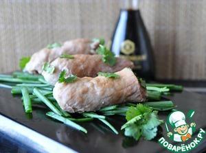 Рецепт Рулетики из свинины по-японски
