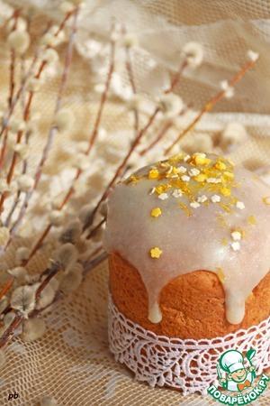 Рецепт Лимонный творожный кулич с имбирными цукатами