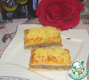 Рецепт Закусочные пирожные с фасолью и печенью