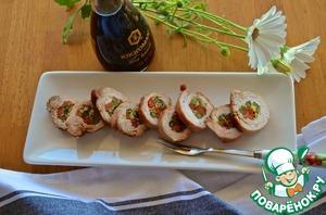 Рецепт Рулеты из индейки с овощами