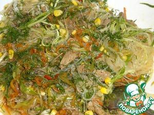 Рецепт Фунчоза с говядиной и овощами