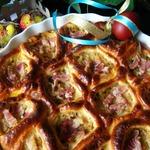 Порционный пирог с капустой