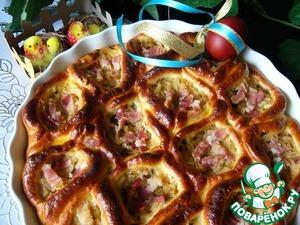 Рецепт Порционный пирог с капустой