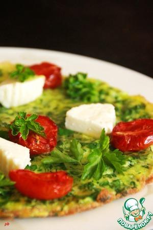 Рецепт Кюкю с пятью видами зелени