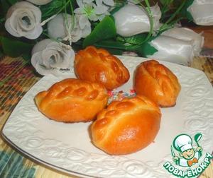 Рецепт Булочки с грушами и грецкими орехами