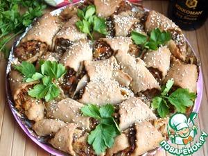 Рецепт Отрывной рыбный пирог из ржаного теста