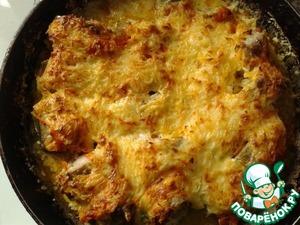 Рецепт Рыбка в духовке под сырно-сметанным соусом