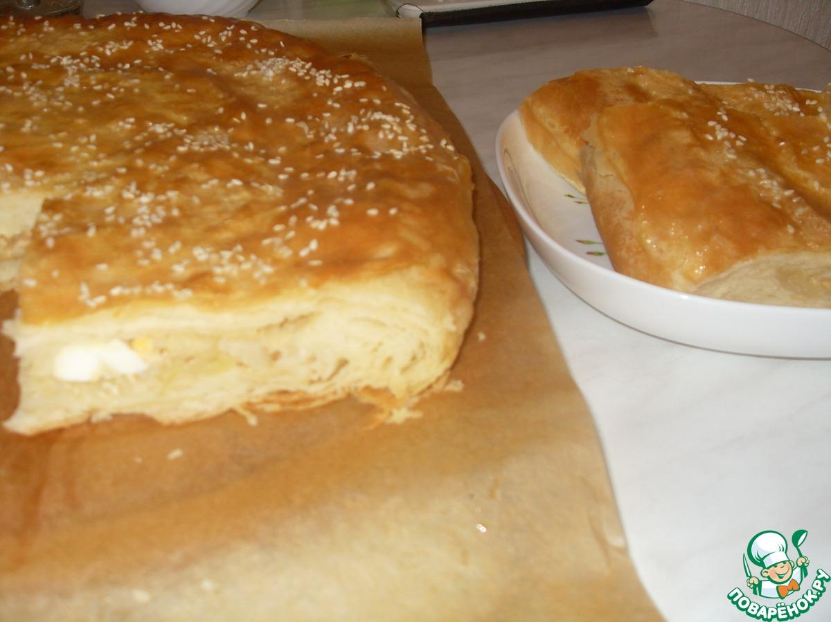 Монастырский пирог рецепт пошагово в духовке