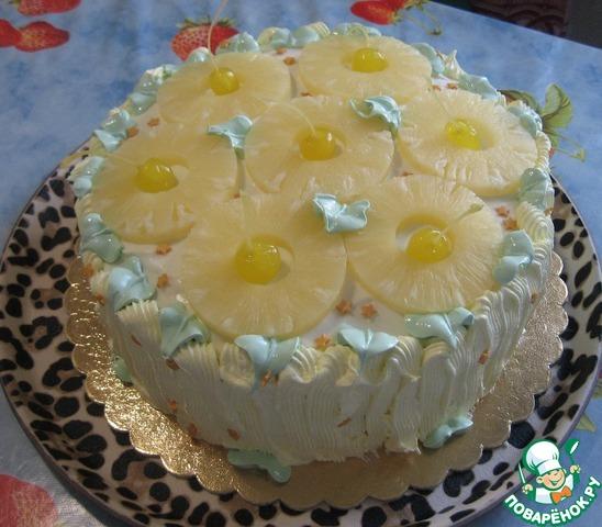 Торт бисквитный фруктами показать фото