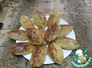 Рецепт Закусочные пирожки с рыбой и солеными огурцами