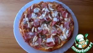 """Рецепт Пицца """"Минутка"""" в мультиварке"""
