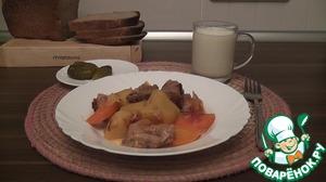 Рецепт Картофель, тушёный с мясом и овощами в мультиварке