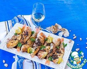 Рецепт Барабулька в винном соусе