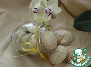 Рецепт Кокосовое печенье с цедрой лимона