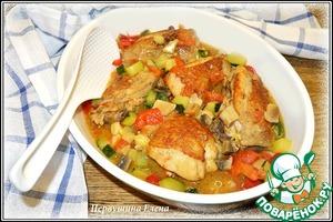 Рецепт Курица с овощами в пивном соусе