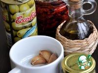 Салат из нута, вяленых томатов и оливок ингредиенты