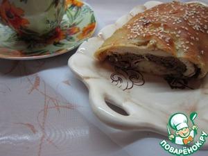 Рецепт Кулебяка мясная