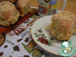 Рецепт Булочки с кремом и штрейзелем
