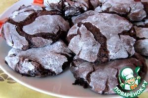 Рецепт Шоколадное печенье без муки