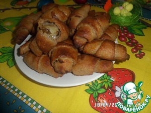 Рецепт Гречнево-луковые рогалики