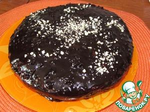 Рецепт Шоколадный торт с нежным творожным дном