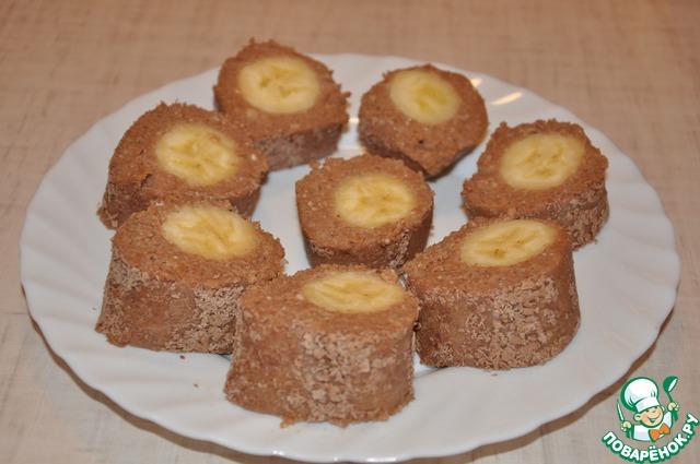 Десерт из творога с бананом без выпечки