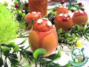 Рецепт Вишнёвые мини-куличи в скорлупках