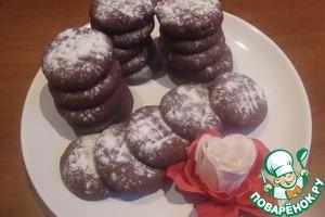 """Рецепт Печенье """"Шоколадно-малиновое"""""""