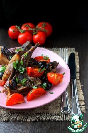 Рецепт Баранина с помидорами и маслинами