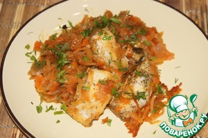 Рецепт Рыба, запеченная в капусте