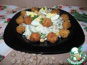 Салат с рыбными фрикадельками простой пошаговый рецепт с фотографиями готовим
