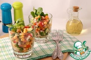 Рецепт Весенний салат с нутом
