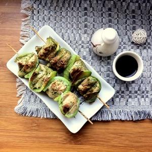 Рецепт Куриные кебабы с кабачками