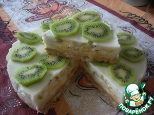йогуртовый торт с киви рецепт с фото