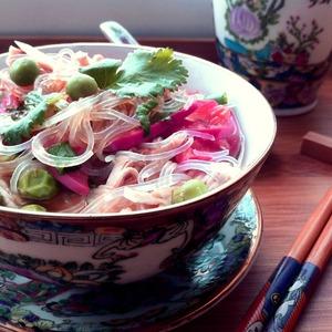 Рецепт Фунчоза с курицей и овощами
