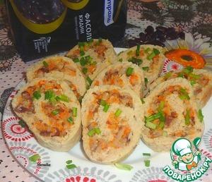 Рецепт Рулет с рисом и фасолью
