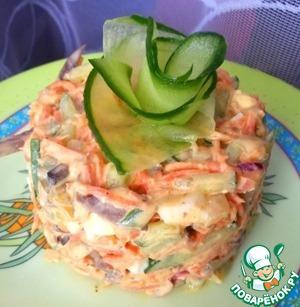 Салат с сердцем, маринованным луком и огурцом простой пошаговый рецепт приготовления с фото как готовить