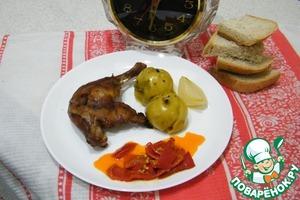 Рецепт Утиные ножки, запеченные с яблоками