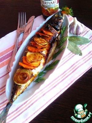 Рецепт Скумбрия в духовке с овощами