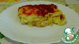 Рецепт Картофельная запеканка с курицей и грибами