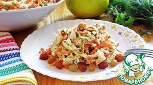 Рецепт Овощной салат со сметанной заправкой