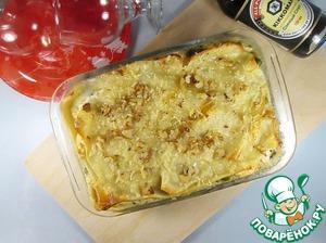 Рецепт Рыбная лазанья с зеленым горошком